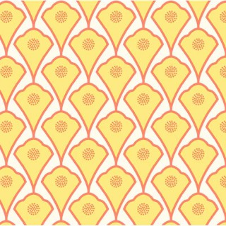 Nappe enduite Deco jaune orange