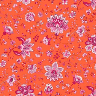 Grande nappe enduite large ou longue Ombelle orange-rose