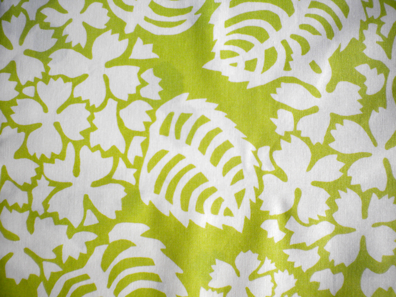 nappe de table verte en coton enduit